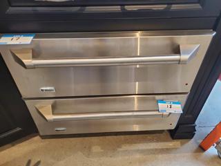 "GE Monogram 30"" Stainless Steel Warming Drawer, Mod. ZTD910SF5SS, S/N ZZ732385C"