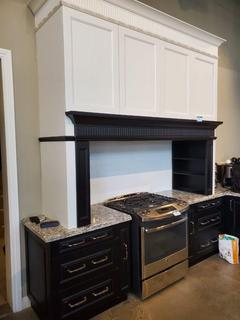 Black/White U-Shape Kitchen, w/ Cambria Stone Top (Stove,Warmers, Dishwasher and Vent Not Included)- (See Pics for details on sizing)