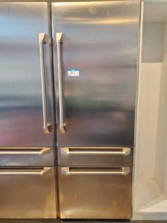 "GE Monogram 30"" Stainless Steel Fridge 2 Drawer Bottom Freezer (Right Door Open)"