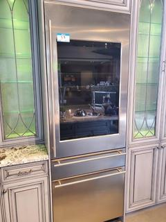 """GE Monogram® 30"""" Fully Integrated Wine Refrigerator Mod. ZIW30GNZAII, S/N ZV 071542, 79 7/8 in x 29 3/4 in x 24 in, 106 wine bottles capacity"""