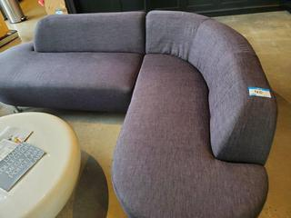 Greay Fabric L-Shape Sofa (8' x 6')