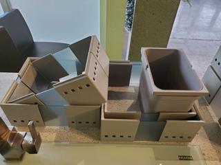 Lot 4 Grey Acrylic Kitchen Drawer Inserts