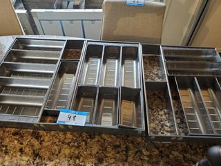 Lot 3 Blum S/S Cutlery Drawer Inserts