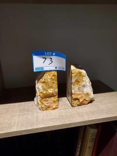 Pair Stone Book Ends