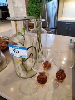 Lot Asst'd Glass Vases