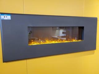 "DK Grey 62"" x 24"" Wall Insert Electric Fireplace"