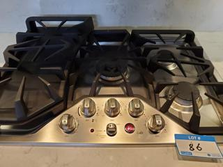 GE Cafe 36 Inch Gas Cooktop with Griddle Accessory, Precise Simmer Burner, Sealed Cooktop Burners, 20,000 BTU Burner, Heavy Cast Grates, GE Fits! Guarantee, ADA Compliant and Child Lock