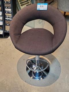 Blk/Brwn Fabric Circular Barstool