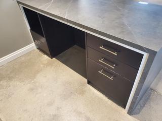 """D/P Grey Desk 33""""x 76"""""""