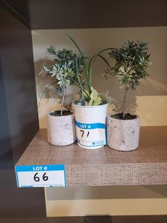 Lot Asst'd Small Potted Artifical Plants