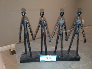 4 Person Holding Hands Decorative Piece