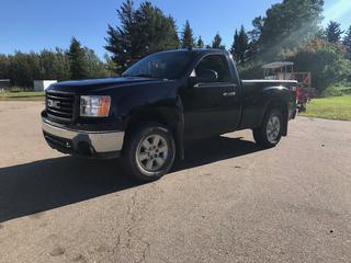 2013 GMC Sierra 4x4 Regular Cab C/w 5.3L V8, A/T, Short Box Showing 143,762 KMs VIN 1GTN2VE07DZ144295 *NOTE: Active Alberta Registration Shows Rebuilt Status*