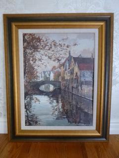 """35in X 43in """"River Canal"""" By Robert Schaar"""