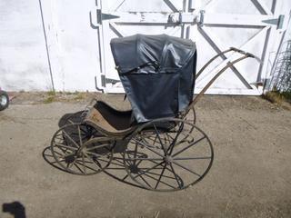 Antique Children's 4-Wheel Stroller
