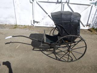 Antique Children's Rickshaw Buggy