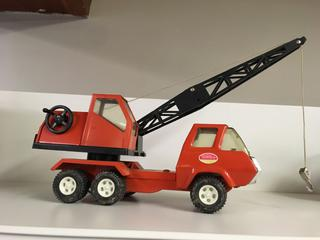 "Metal Tonka Crane, 12"" Long."