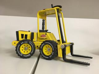 "Metal Tonka Forklift Toy, 11"" Long."