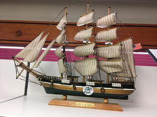"Wooden "" Pride Of Baltimore II"" Ship Decoration."