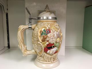 """Father Christmas"" Ceramic Avon Stein."