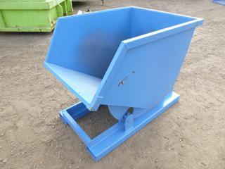 Unused Standard Duty Steel Dumping Hopper - 1/2 Cubic Yard,  50 In. x 34 In. X 40 In., 8 Gauge Steel,  6.5 Inch x 3 In. Fork Pockets ( Outside East Warehouse)
