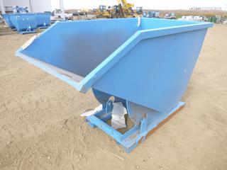 Unused Standard Duty Steel Dumping Hopper - 1 Cubic Yard, 76 In. x 41 In. X 49 In., 8 Gauge Steel,  6.5 Inch x 3 In. Fork Pockets ( Outside East Warehouse)