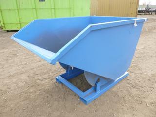 Unused Standard Duty Steel Dumping Hopper - 2 Cubic Yard, 83 In. x 53 In. x 50 In., 8 Gauge Steel,  6.5 Inch x 3 In. Fork Pockets ( Outside East Warehouse)