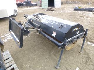 John Deere 84 In. Sweeper Skid Steer Attachment BA84 Work Site Pro, SN 1TOBA84XA50000654 (E. Fence)