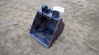 (1) Kubota 14 In. Clean Up Bucket, Model K9912C-16-KX41-3, S/N 33855