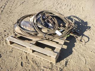 Qty of Wire Rope Slings w/ Trygg 385/65R22.5 Truck Chains Single w/ Studs (Row 3)