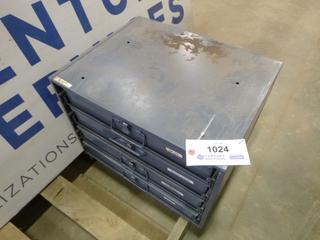 Durham 4 Drawer Modular Compartment Drawer Box Rack, C/w Contents (K-1-1)