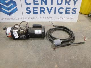 Dayton Winch, Model 4ZY95, 3000 lb. Capacity, 115/208/230V, C/w Leeson 1PH Motor, Relay and Control Corp Control Switch (Row 3)