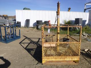 Man Basket, 4 Ft. x 4 Ft. x 51 In., C/w Contents of Clevises and Chain, S/N MB-43, (Row 2)
