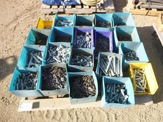 Assortment of Various Sized Bolts, Washers, Nuts, (Row 2)