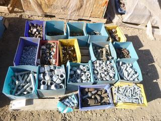 Assortment of Various Sized Bolts, Washers, Nuts, Plugs and Gas Fitting Material, (Row 2)