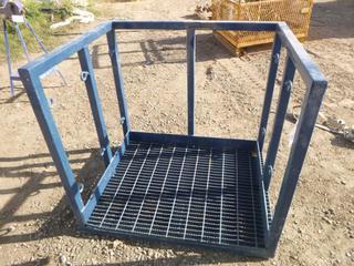 Man Basket Lift Platform, 3 Ft. x 3.5 Ft. x 3.5 Ft, (Row 2)
