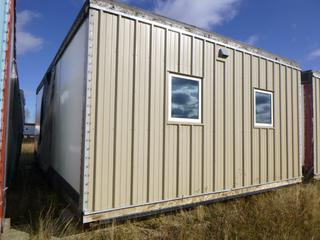 32 Ft. 3 In. L X 20 Ft. W Modus Camp Module, w/ 4 Bedrooms, 2 Bathrooms, (Missing Drywall Patches in Corners, Slight Water Damage) * * NOTE: Buyer Responsible For Load Out.  Located Offsite at TWP Road 743A, Conklin AB, T0P 1H0.  Shipping and Transport Available.  For More Information and Viewing Contact 780-944-9144.  * *