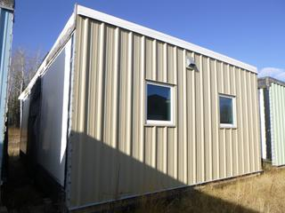 32 Ft. 3 In. L X 20 Ft. W Modus Camp Module, w/ 4 Bedrooms, 2 Bathrooms, (Missing Drywall, Slight Water Damage) * * NOTE: Buyer Responsible For Load Out.  Located Offsite at TWP Road 743A, Conklin AB, T0P 1H0.  Shipping and Transport Available.  For More Information and Viewing Contact 780-944-9144.  **