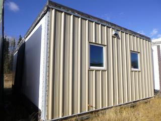 32 Ft. 3 In. L X 20 Ft. W Modus Camp Module, w/ 4 Bedrooms, 2 Bathrooms, (Missing Drywall, Slight Water Damage) * * NOTE: Buyer Responsible For Load Out.  Located Offsite at TWP Road 743A, Conklin AB, T0P 1H0.  Shipping and Transport Available.  For More Information and Viewing Contact 780-944-9144.  * *