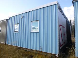 32 Ft. 3 In. L X 20 Ft. W Modus Camp Module, w/ 4 Bedrooms, 2 Bathrooms, (Missing Drywall In Corners, Slight Water Damage) * * NOTE: Buyer Responsible For Load Out.  Located Offsite at TWP Road 743A, Conklin AB, T0P 1H0.  Shipping and Transport Available.  For More Information and Viewing Contact 780-944-9144.  * *