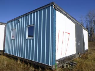 32 Ft. 3 In. L X 20 Ft. W Modus Camp Module, w/ 4 Bedrooms, 2 Bathrooms, (Missing Drywall , Water Damage In Corners) * * NOTE: Buyer Responsible For Load Out.  Located Offsite at TWP Road 743A, Conklin AB, T0P 1H0.  Shipping and Transport Available.  For More Information and Viewing Contact 780-944-9144.  * *