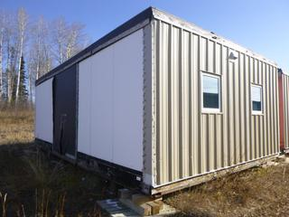 32 Ft. 3 In. L X 20 Ft. W Modus Camp Module, w/ 4 Bedrooms, 2 Bathrooms, (Missing Drywall , Water Damage, Slight Mold) * * NOTE: Buyer Responsible For Load Out.  Located Offsite at TWP Road 743A, Conklin AB, T0P 1H0.  Shipping and Transport Available.  For More Information and Viewing Contact 780-944-9144.  * *