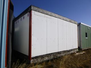 20 Ft. 2 In. L X 19 Ft. 3 In. W X 11 Ft H Modus Camp Module, w/ 2 Bedrooms, 1 Bathroom, (Missing Insulation and Drywall) * * NOTE: Buyer Responsible For Load Out.  Located Offsite at TWP Road 743A, Conklin AB, T0P 1H0.  Shipping and Transport Available.  For More Information and Viewing Contact 780-944-9144.  * *