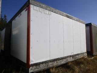32 Ft. 3 In. L X 20 Ft. W Modus Camp Module, w/ Laundry Room, Utility / Storage Room w/ Trap Door in Floor , 2 Bedrooms and 1 Bathroom (Missing Some Drywall) * * NOTE: Buyer Responsible For Load Out.  Located Offsite at TWP Road 743A, Conklin AB, T0P 1H0.  Shipping and Transport Available.  For More Information and Viewing Contact 780-944-9144.  * *