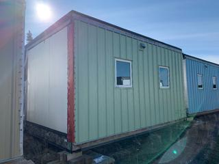 32 Ft. 3 In. L X 20 Ft. W Modus Camp Module, w/ 4 Bedrooms, 2 Bathrooms, (Missing  Drywall, Missing Insulation) * * NOTE: Buyer Responsible For Load Out.  Located Offsite at TWP Road 743A, Conklin AB, T0P 1H0.  Shipping and Transport Available.  For More Information and Viewing Contact 780-944-9144.  * *