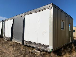 32 Ft. 3 In. L X 20 Ft. W Modus Camp Module, w/ 4 Bedrooms, 2 Bathrooms, (Missing  Drywall) * * NOTE: Buyer Responsible For Load Out.  Located Offsite at TWP Road 743A, Conklin AB, T0P 1H0.  Shipping and Transport Available.  For More Information and Viewing Contact 780-944-9144.  * *