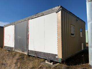 32 Ft. 3 In. L X 20 Ft. W Modus Camp Module, w/ 4 Bedrooms, 2 Bathrooms, (Missing  Drywall, Slight Mold) * * NOTE: Buyer Responsible For Load Out.  Located Offsite at TWP Road 743A, Conklin AB, T0P 1H0.  Shipping and Transport Available.  For More Information and Viewing Contact 780-944-9144.  * *