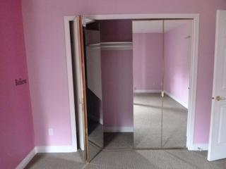 Qty Of (4) 35.5in Folding Mirror Closet Doors **Note: Buyer Responsible For Load Out, Located Offsite For More Info Contact Shazeeda @780-721-4178**