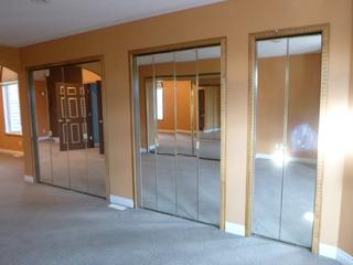 82in Sliding Mirrior Closet Door Set Up w/ Track C/w (2) 35 1/2in Folding Mirrior Doors And Tracks And (3) 23 1/2in Folding Mirror Doors And Tracks **Note: Buyer Responsible For Load Out, Located Offsite For More Info Contact Shazeeda @780-721-4178**