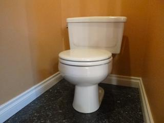 Western 1.6gpf-61pf Porcelain Toilet C/w Next Step Toilet Seat **Note: Buyer Responsible For Load Out, Located Offsite For More Info Contact Shazeeda @780-721-4178**