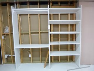 94in X 88in Shelving Unit C/w (2) 36in X 80in Interior Doors And (1) 32in X 80in Interior Door **Note: Buyer Responsible For Load Out, Located Offsite For More Info Contact Shazeeda @780-721-4178**